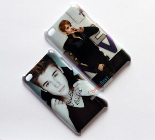 Justin Bieber Hard Back Cover Case for iPod Touch 4th 4 4G 2pcs New