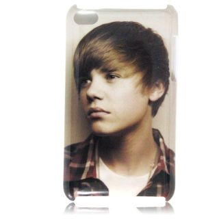 5pcs 1D One Direction Justin Bieber Case for iPod Touch 4 Protect Case