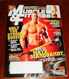 Muscle Fitness Magazine August 2009 Nate Marquardt