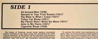 Bo Carter Banana in Your Fruit Basket Yazoo LP Robert Crumb Artwork
