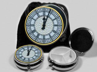 Big Ben Clock Pocket Mirror Pill Box 5243