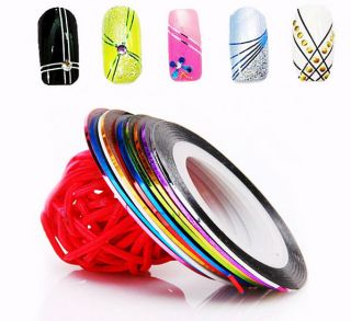 18 Colors Pretty Rolls Striping Tape Line Nail Art Decoration Sticker
