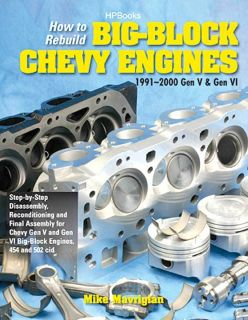 BIG BLOCK CHEVY ENGINE Rebuild Manual 396 402 427 454 502 Rat Rod