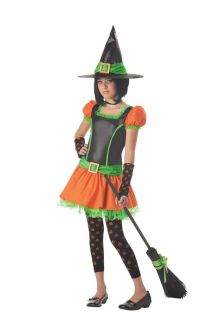 Cute Sassy Pumpkin Witch Tween Child Halloween Costume