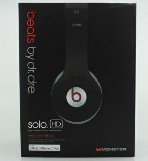 New Black Monster Beats Dr Dre Solo HD ControlTalk Over the Head
