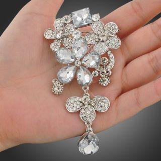 GP Swarovski Crystal Gorgeous Ladys Party Big Brooch Pin X95