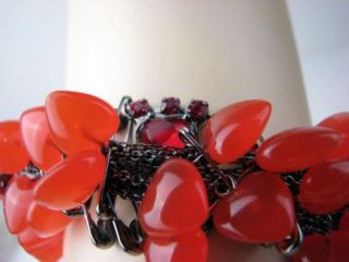 Disney Couture Tom Binns ALICE Red Puff Hearts, Safety Pins Queen