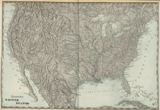 UNITED STATES Topographical Map Authentic 1899; Large, Detailed