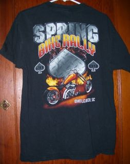 2004 Myrtle Beach Bike Rally T Shirt Black L Motorcycle