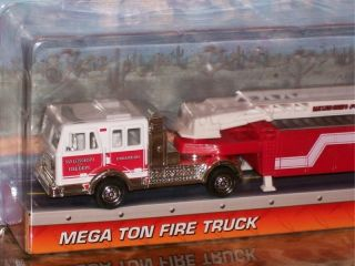 Matchbox Big Rig Semi Mega Ton Fire Truck White Red