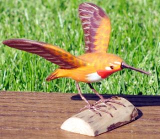 Life Like Hand Carved Wood Bird Sculpture Realistic Carving