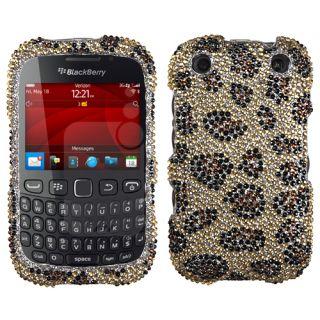 BLACKBERRY 9310(Curve) Case Cover Bling Rhinestone Leopard Skin/Camel