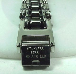 Bike Chain Link Chrome Stainless Steel Bracelet Men Motorcycle Club