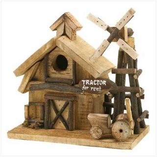 Country Barnyard Bird House Birdhouse and Windmill New