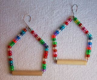 Beaded Swings for Smaller Birds parakeets canaries finches love birds