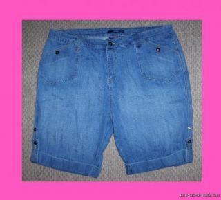 Bill Blass Denim Jean Bermuda Shorts Womens Plus 22W 3X