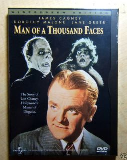 Lon Chaney Man of A Thousand Faces James Cagney DVD New 014381429022