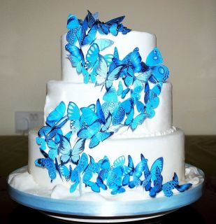 Edible Butterflies Ideal Wedding Birthday Cake Toppers WB16