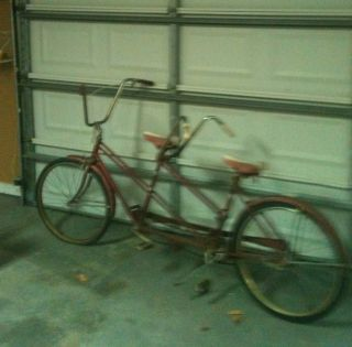 Vintage Bicycle Tandem  & Roebuck Double Seat Rare Find
