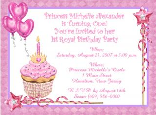 10 Little Prince Princess Custom Birthday Invitations