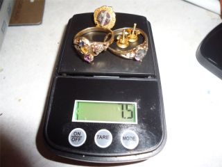 10K Gold Family Birthstone Black Hills Ring Sapphire Pin Scrap or wear