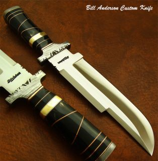 Designed Hand Made by Bill Anderson 1 OF A KIND CUSTOM BOWIE KNIFE
