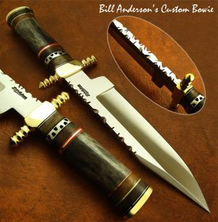 Hand Made by Bill Anderson 1 OF A KIND CUSTOM BOWIE KNIFE FOSSIL