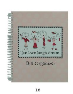 of Girl Live Love Laugh Dream Bill Organizer New Bulk Wholesale Lots