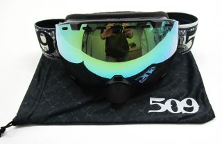 Snowmobile Goggles Dollar Bill w Green Mirror 509 Avigog 12 DL