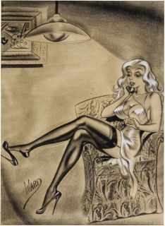 Bill Ward Original Illustration Incredible 1956 Humorama Sexploitation