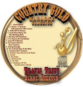 blake shelton country classic cd g karaoke 17 songs