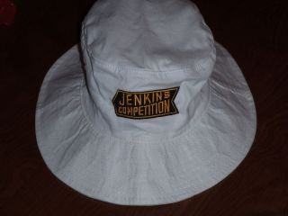 BILL GRUMPY JENKINS COMPETITION EMBROIDERED WHITE BUCKET HAT