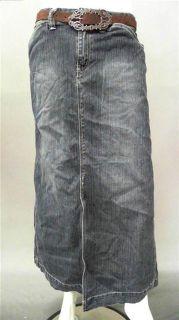 Bill Blass Jeans Ladies Womens 8 Comfort Straight Long Skirt Blue