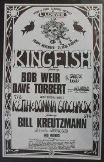 Kingfish Grateful Dead Syracuse 1975 Concert Poster Original RARE