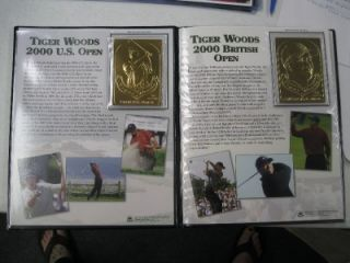 Tiger Woods The Danbury Mint 22kt Gold Golf Cards UD