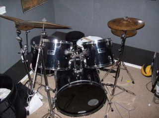 Black Pearl Drum Set with Zildjian Cymbals