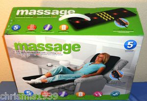 Full Body Massage Mat with Soothing Heat ~ Black