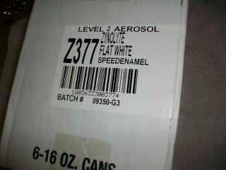 Zonolite Flat White Spray Paint 6 Cans of 16 oz Each Z377