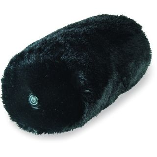 Spa Massage Multi Purpose Roll Massager Faux Fur Black