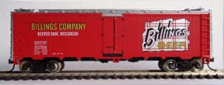 BEER CAR, BILLINGS, BEAVER DAM, WISCONSIN (MILWAUKEE ROAD)   New Kit