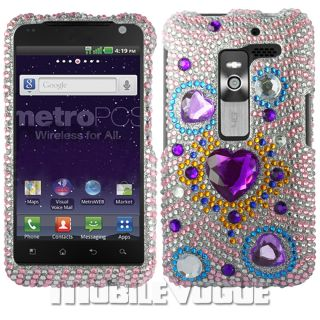Bling Diamante Rhinestone Hard Case Cover for LG Esteem MS910 MetroPCS