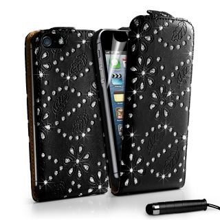 London Magic Store   DIAMOND BLING FLIP LEATHER CASE COVER For Apple