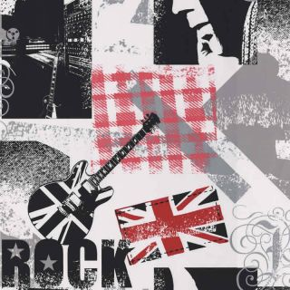 Rock Music Guitar Wallpaper Black White Red Grey