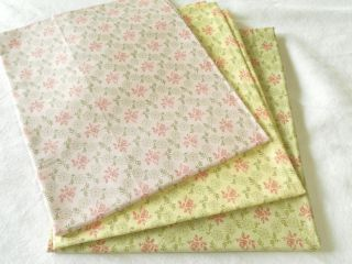 Moda 3 Sisters Pink Rose Shabby Cottage Chic Fabric Lot