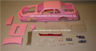 Lot/Body FORD T BIRD PRO STREET 1/25 Scale GMS CUSTOMS SLOT BODY PARTS