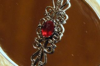 Victorian Vampire Blood Goth Necklace Twilight Dawn Pin