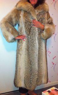 Bill Blass Coyote Diutshfurs Long Vintage Fur Coat Excellent