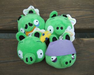 angry birds 4 pig game plush toy soft quantity 4pcs project 4