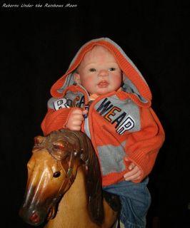 Reborn Baby Boy Doll Rocky from Eva Wakolbinger Sculpt