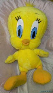Warner Bros Plush Stuffed Big 24 Huge Tweety Bird Looney Tunes